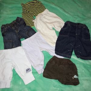 Other - 7 pairs of 0-3 month baby pants